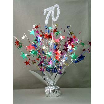 Elegant birthday table decoration for 70th birthda photograp for 70th birthday decoration